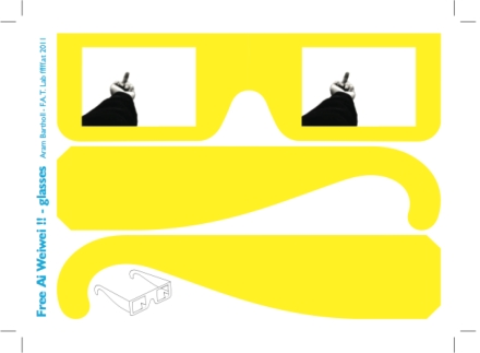 free ai wei wei glasses by Aram Bartholl