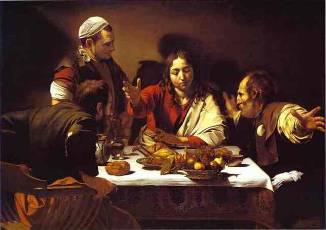 caravage Le souper a Emmaus 1601