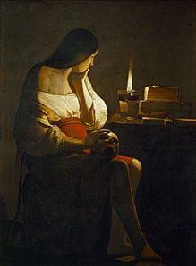 Georges de la Tour : La madeleine a la flamme fumante