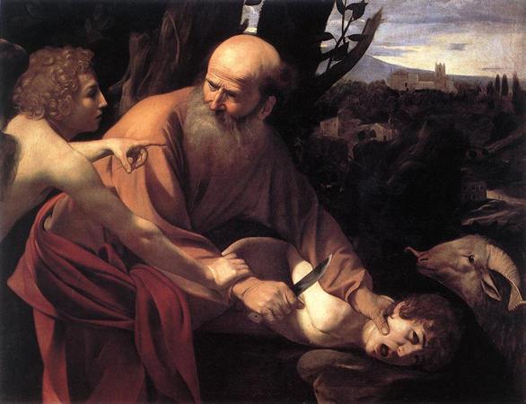 le Caravage : Le sacrifice d'isaac