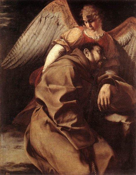 saint françois par orazio gentileschi