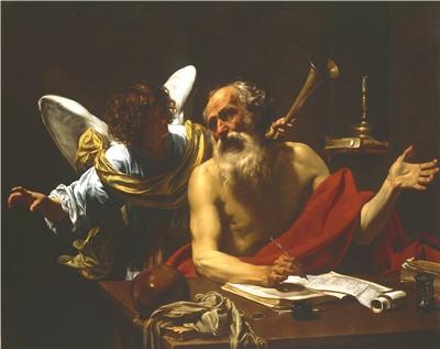 Simon Vouet. Saint Jérôme et l'ange
