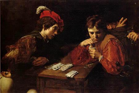 Valentin de boulogne : le tricheur