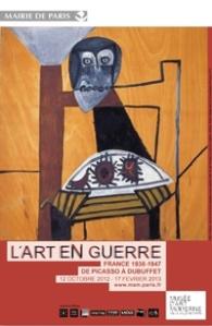 Affiche exposition Art en guerre au MAM