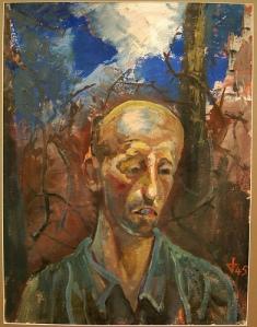 Otto Dix ,Portrait d'un prisonnier de guerre. 1945