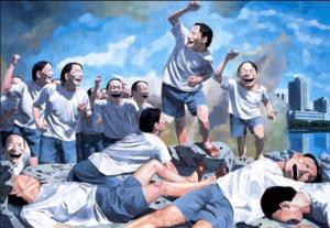 Yue Minjun, La liberte menant le peuple