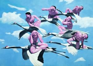 yue minjun oiseaux migrateurs